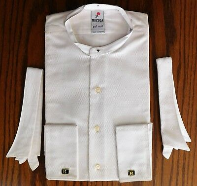 Vintage Marcella dress shirt UNUSED Rocola Pall Mall tunic 2 separate collars