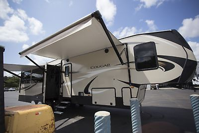 Rv Camper Fifth Wheel Cougar 344Mks Mid Kitchen Trailer Rv