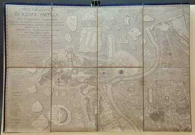 Pianta Topografica Di Roma Antica... 1840. Map. Lot 240