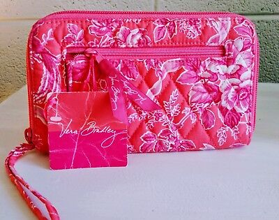 Vera Bradley Hope Toile Wristlet Clutch New With Tag FREE SHIPPING