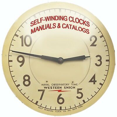 Self Winding Clocks Western Union Naval Observatory Catalogs and Service Guides