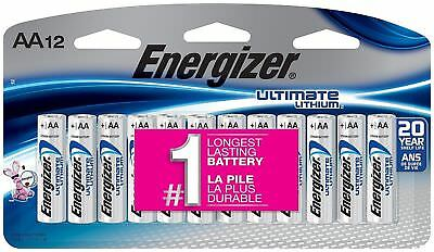 12 x Energizer Ultimate Lithium AA Batteries (12-Pack) 12 Exp 2036 FREE SHIPPING
