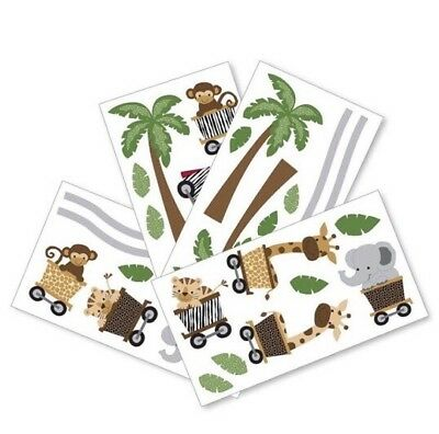 New Lambs & Ivy Nursery Wall Appliques Safari Express Collection Train Unisex