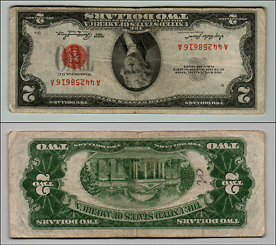 1953 $2 Dollar Bill Old Us Note Legal Tender Paper Money Currency Red Seal Q815