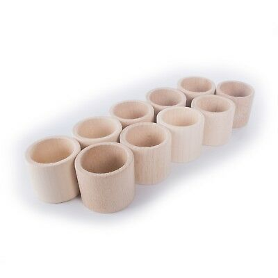 Wooden FLAT Napkin Rings Holder / Party Decoration Crafts Decor / Beechwood