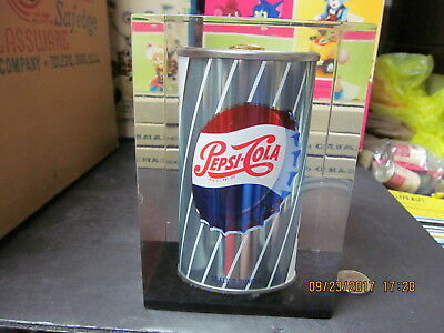 Pepsi Steel Can Encapsulated In Lucite 1950's Very Rare Not A Mass Produced Item