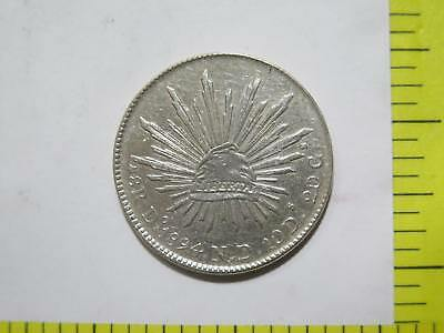 Mexico 1894 Do Nd 8 Reales Cap Rays Silver Durango World Coin Collection Lot Y