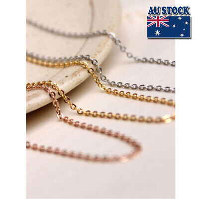"Fashion Stunning 18K Rose Gold Filled 1.5mm Classic Chain Necklace 18"" - 30"""