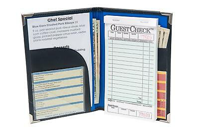 Restaurant Guest Checks Book Server Waitress Pad Holder Organizer Book Check Set