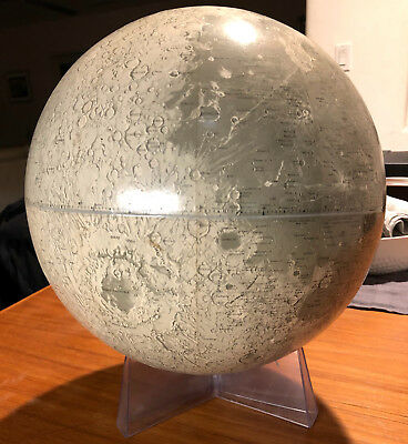 "Rand McNally 12"" Lunar Globe with Stand  ""1969"""