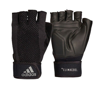 a8d839568d21a MEN'S ADIDAS CLIMACOOL Performance Training Gym Weight Gloves, Black ...