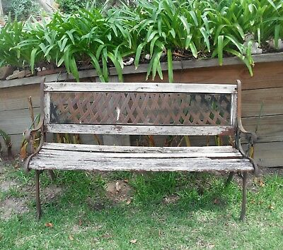 Retro  Cast Iron Garden Bench Pick up 2250