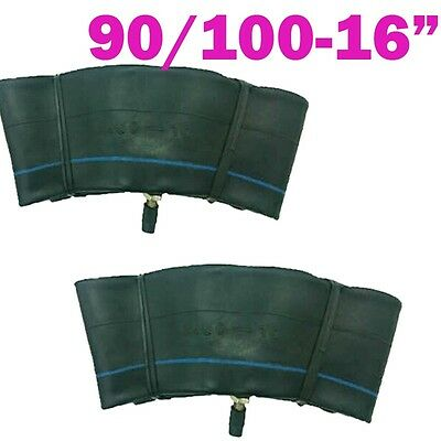 2x 90/100-16 2.5 / 3.25-16 16 inch Inner Tube for Dirt Trail Pit Bike off-road