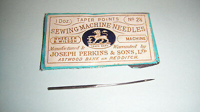 10  curved needles for Wheeler&Wilson Sewingmachines Nr. 1/2/3/4