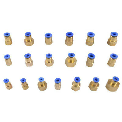 """10 Pcs M5 1/8""""1/4"""" PT Female Thread 6mm Push In Joint Pneumatic Quick Fittings"""