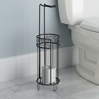 Standing toilet tissue holder bathroom paper roll storage for Loo roll storage