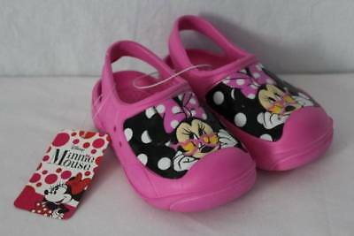 bdefe0b44c03 Minnie Mouse Toddler Girls Water Shoes Medium 7 - 8 Pink Sandals Clogs Slip  On