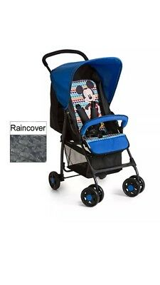 Hauck Mickey Geo Blue Lightweight Baby Sport Pushchair Stroller From Birth