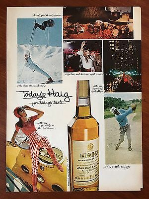 Vintage 1967 Original Print Ad Today's HAIG SCOTCH WHISKY For Today's Taste