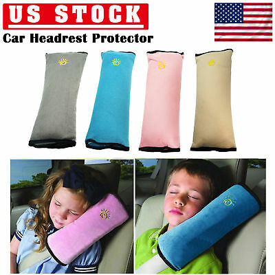 Seat Belt Should Pats Cover Protector Headrest Neck Support for Children Kids