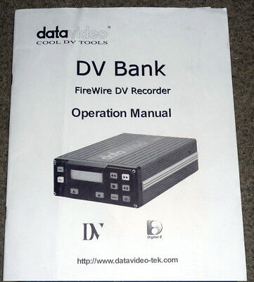 DATAVIDEO DIGITAL VIDEO RECORDER DN-100 with Extras