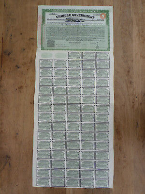 Chinese Government, Vickers Loan / Treasury Notes 1925/1929, £100 Bond