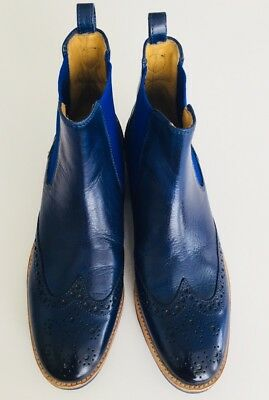 Keine Verkaufssteuer bester Preis bester Preis NEW MELVIN AND Hamilton Leather Royal Blue Ankle Boots 8 ...