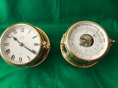 Schatz Royal Mariner Ship's Bell Clock (Quartz) and Barometer