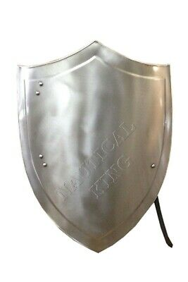 Knight Medieval heater shield SCA LARP WASTER 18GA Battle Armor HALLOWEEN Sheild