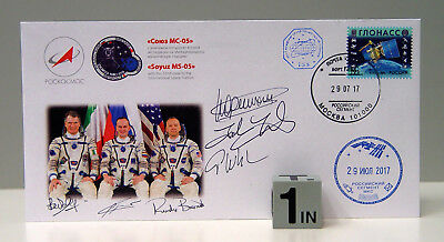 ISS Flown MS-05 Envelope w/ MS-04 & MS05 (All Expedition 52) Signatures