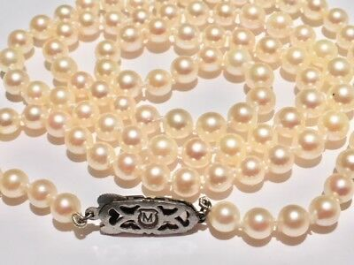 Mikimoto 24 In Pearl Necklace 5Mm Pearls Beautiful