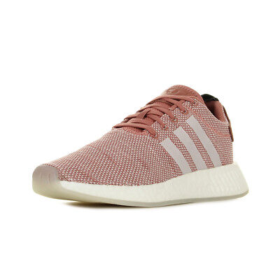 Chaussures Baskets Adidas Femme Hamburg Taille Rose Cuir Lacets 36 23