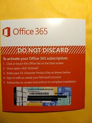 LOT OF 2 Microsoft Office 365 Personal 1 Year Subscription KEYS + 1TB CLOUD