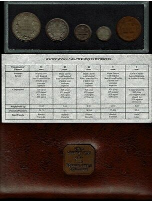 Canada 5-Coin 90Th Anniversary Ottawa Mint Set 1998 4 Sterling Silver Coins Nice