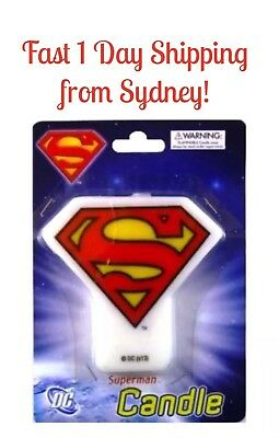 Superman Birthday Party Candle S sign Candle Superhero Candles