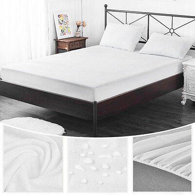 Queen/Single Size Mattress Cover Bed Pad Mat Protector Bamboo Fiber Waterproof
