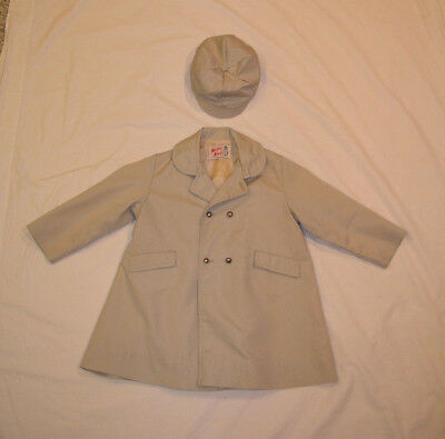 1960s Weather Winky Supak and Sons Boy Girl Child Raincoat Hat Size 4 Vintage