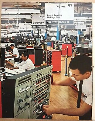 1966 Full Color Ad ~ IBM System 360-40 ~ Final tests Poughkeepsie NY Facility