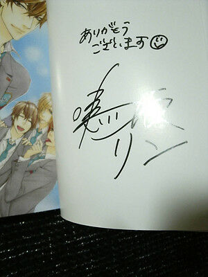 Hand Signiert boyslove Manga ka (Fashion Affairs) Narusaka Rin autographed sign