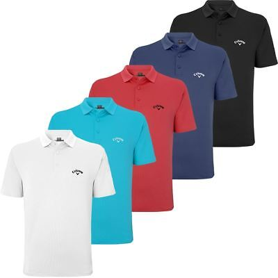 Sale!! 50%off Rrp Callaway Golf Mens Golf Top Seamless Stretch Short Polo Shirt