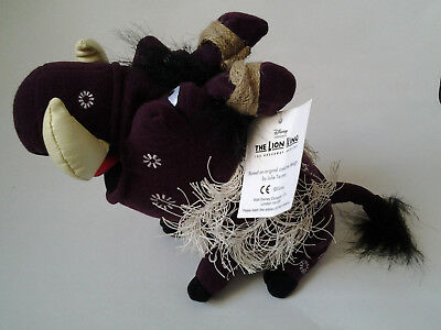 Disney PUMBAA Wart Hog from Lion King The Broadway Musical with tags