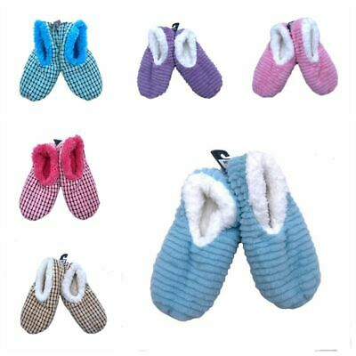 Ladies Slumbies Rose Fluffy Fur Non-Slip Slipper Soft Socks Family Gift 2018