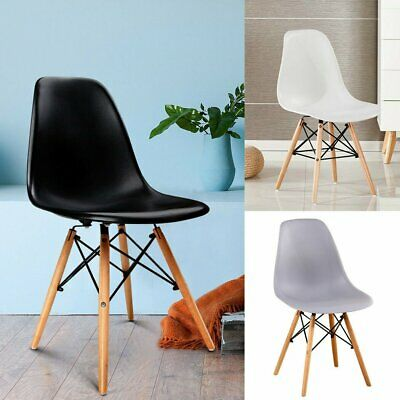 2/4 X Retro Replica Eames Eiffel Dining Chairs DSW Cafe Kitchen Chairs AU STOCK