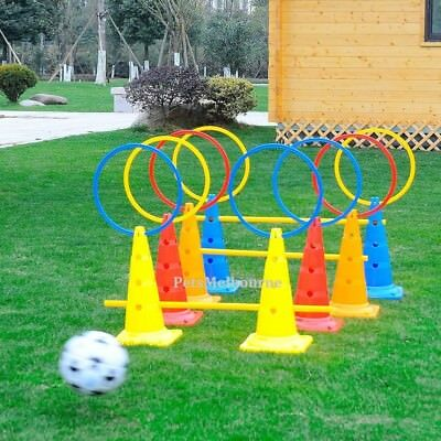 4pcs/Set Multi-funtion Sports Agility Training Accessories Poles/Rings/Base/Cone