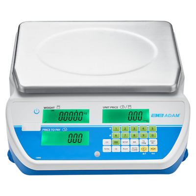 AZEXTRA Price-Computing Retail Stamped Trade Approved Mains Battery Scales