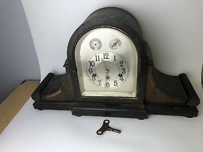 Antique Junghans German Quality Wood Chime Clock With A42 Movement
