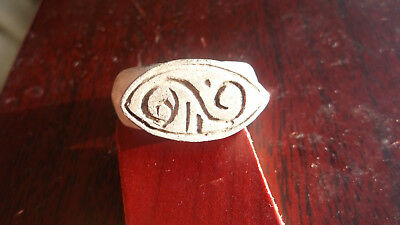 Ancient Viking silver ring From the period 800 -1000 AD.15,9 g Diameter 22 mm