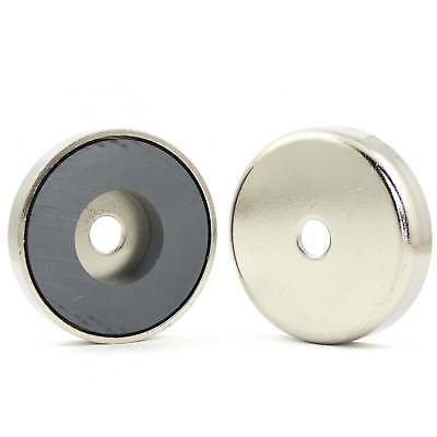 50mm dia x 10.5mm with 8.5mm hole  Ferrite pot magnet (SMALL PACKS) 18kg pull