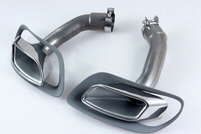 BMW E71 X6 V8 LOOK STAINLESS EXHAUST Quad Exhaust Muffler Tips Tail Pipes