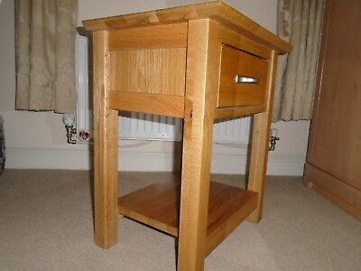 Camberley Light Oak 1-Drawer Small Lamp/Side Table SOLID OAK, Collect @ NG19 0RP